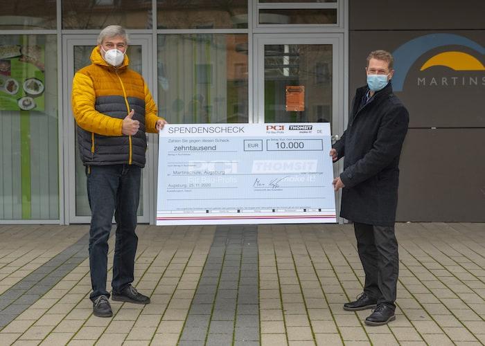 PCI Gruppe spendet 30.000 Euro an lokale Hilfs- und Bildungseinrichtungen